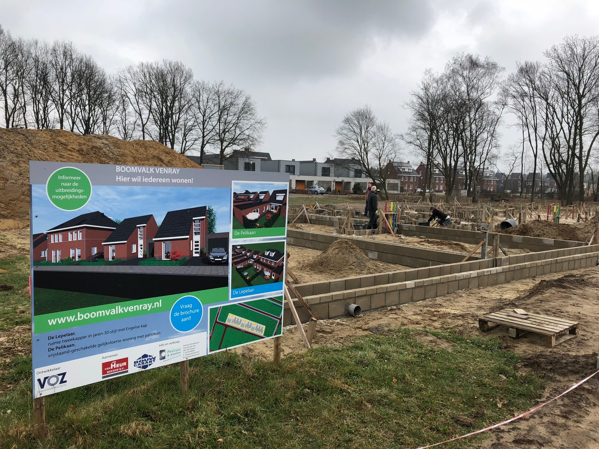 Bouw in volle gang fase 1, 2 en 3! | Boomvalk Venray